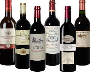 Wein Überraschungspaket mit 6 wundervollen Bordeaux-Rotweinen