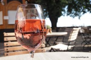Weinprobe im Garten von Schloss Johannisberg