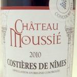 Château Moussie 2010 Vorderseite Etikett