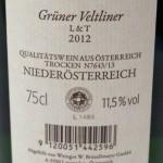 Grüner Veltliner L&T 2012 Weingut Bründlmayer