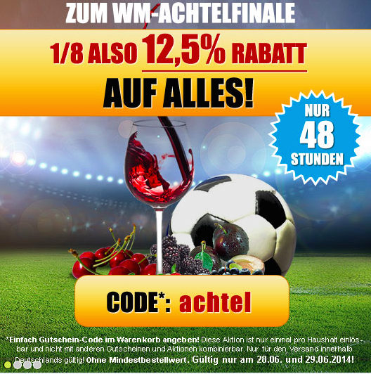 Ebrosia Aktion Achtel-Finale Fußball-WM