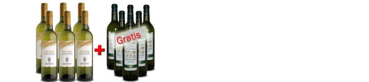 Gazerra Pinot Grigio 2013 + Baron d´Emblème Sauvignon Blanc 2013