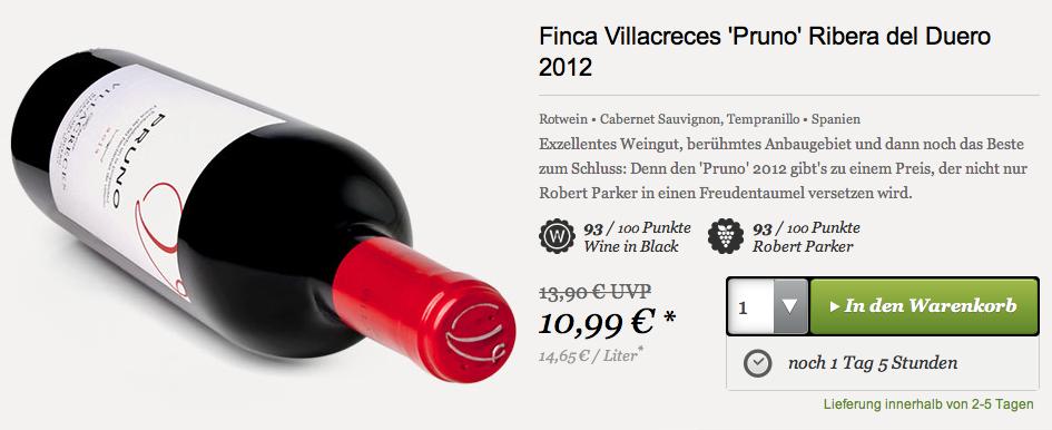 Finca Villacreces Pruno 2012