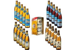 Paulaner Maßkrug + 1 Liter Dose + 20 BIerflaschen