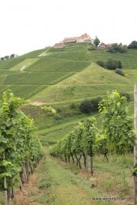 Hoch oben ragt das Schloss Staufenberg
