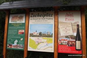 Der Ort Zscheiplitz nahe Freyburg