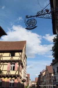 Blick in die Altstadt von Riquewihr