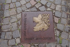 Bassermann-Jordan am Walk of Fame des Deutschen Weintors