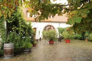 Innenhof des Weinguts Knipser