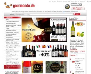 Der Web-Shop von Gourmondo