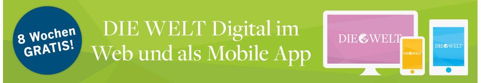 Die Welt Digital kostenlos für 2 Wochen lesen