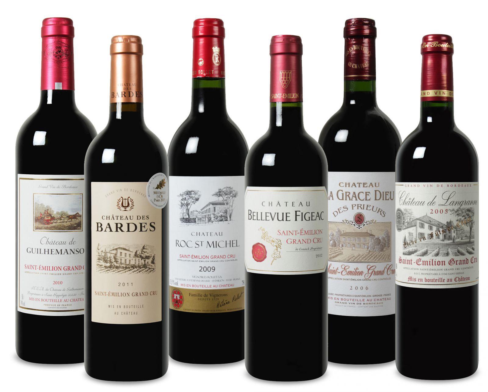 Wein Probierpaket Saint-Émilion Grand Cru