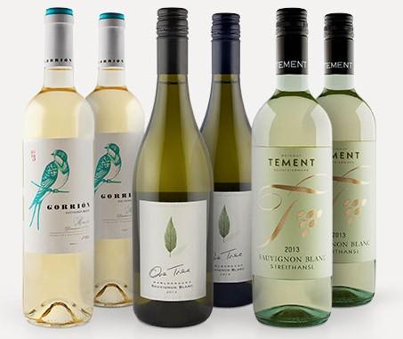 6 Flaschen Sauvignon Blanc aus drei verschiedenen Ländern