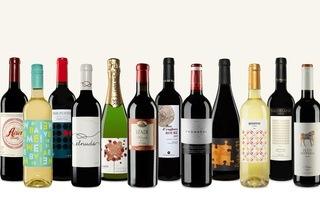 12er-Paket spanischer Rotwein, Weißwein und Sekt