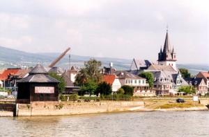 Blick auf Oestrich-Winkel im Rheingau