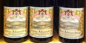 Weinetiketten von Schloss Johannisberg