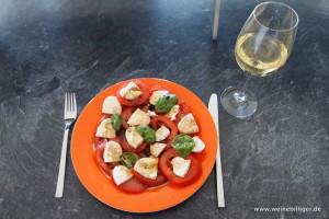 Weinempfehlungen für Tomate-Mozzarella-Salat