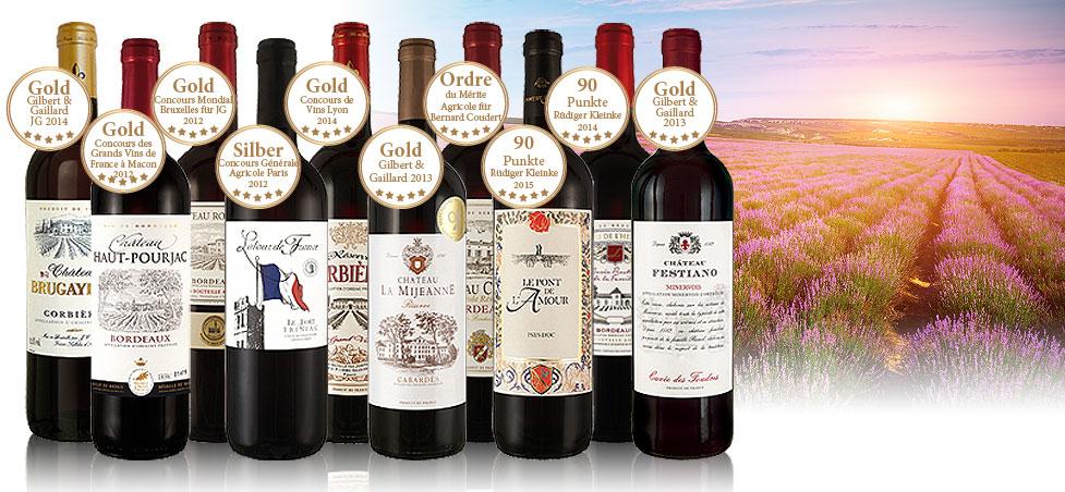 Frankreichs beste Weine im Paket